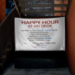 Happy hour at On Deck
