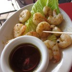 Grilled shrimp plate