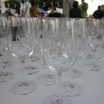Commemorative wine glasses at the MIX Wine Pavilion