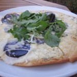 Purple potato pizza with rosemary sauce from Doe Bay Cafe (Orcas Island)