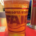A big Midwestern beer at the Minnesota State Fair.