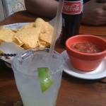 As summer wanes, we enjoy some chips, salsa, Mexican Coke and (of course) margaritas on the patio.