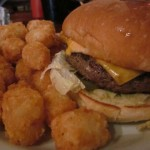 Mary Burger with tots