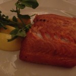 Grilled wild salmon at Wolfgang's Steakhouse