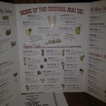 Trader Vic&#039;s cocktail menu