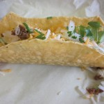 The taco shells are light and crunchy