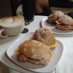 Bistro-size roast beef sandwiches (and the cafe mocha that I had to order twice)